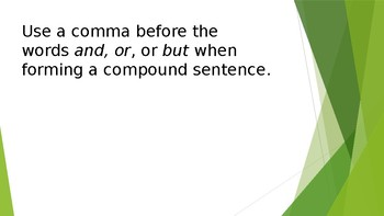 Grammar Unit 1 Week 5 Day 3 Capital Letters, Commas, and End Punctuation