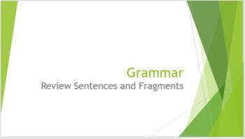 Grammar Unit 1 Weeks 1-5