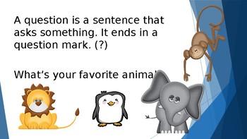 Grammar Unit 2 Week 2 Day 3 Punctuate Four Kinds of Sentences