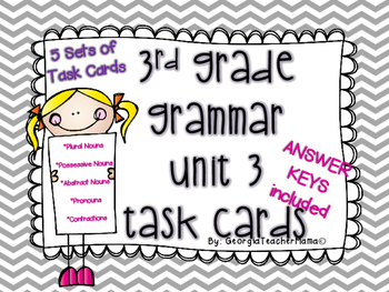 Grammar Unit 3 Task Cards