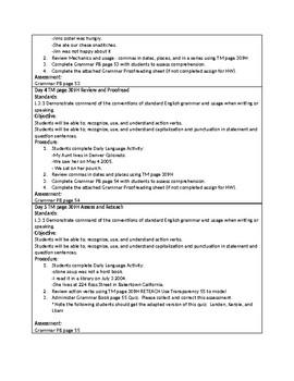 Grammar Unit 3 Week 1