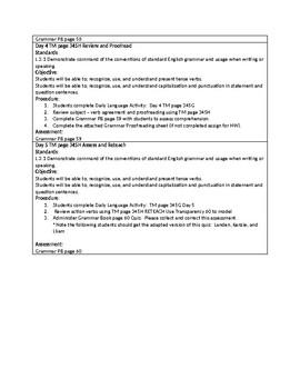 Grammar Unit 3 Week 2
