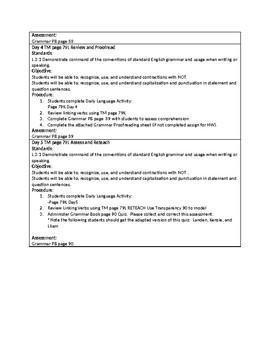 Grammar Unit 4 Week 3