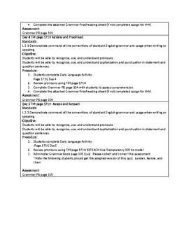 Grammar Unit 5 Week 1