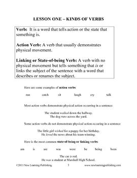 Grammar Unit Four: Verbs