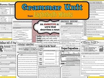 Grammar Unit from Lightbulb Minds