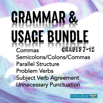 Grammar & Usage Bundle for Grades 7-12--Help Improve Student Writing!