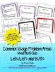 Grammar Usage: Lets/Let's & Its/It's No Prep Quiz & Anchor Charts