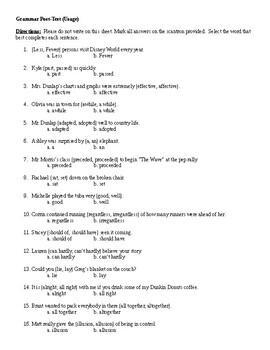 Grammar Usage Post-Test