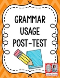 Grammar Usage Post-Test (Colorful Version)