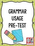 Grammar Usage Pre-Test (Colorful Version)
