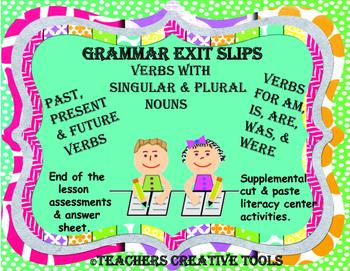 Grammar Verbs Exit Slips