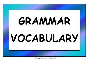 Grammar Vocabulary Cards