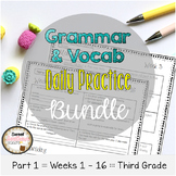 Grammar & Vocabulary Daily Practice BUNDLE PART 1 Weeks 1-16