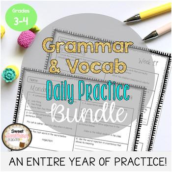 Grammar & Vocabulary Daily Practice MEGA BUNDLE Weeks 1-32