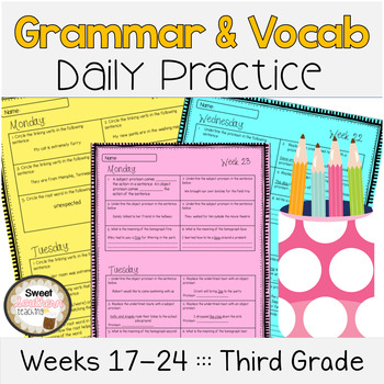 Grammar & Vocabulary Daily Practice Weeks 17-24