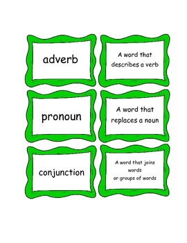 Grammar Vocabulary Matching upper elementary