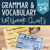 Grammar & Vocabulary Notebook Charts