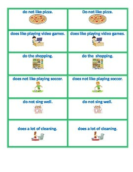 Subject / Verb Agreement Grammar / Vocabulary game! For All Ages!