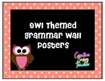 Owl Themed Grammar Wall