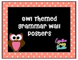 Owl Themed Grammar Wall