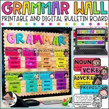 Parts of Speech Posters | Grammar Posters | Grammar Wall Kit | Classroom Decor