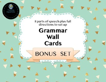 Grammar Wall Cards BONUS SET