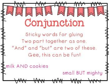 Grammar Wall Headers & Rhymes Pack {Color & B&W}