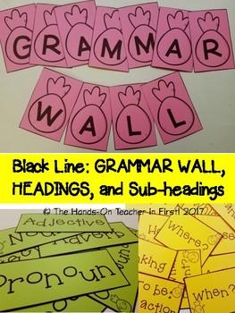 Grammar Wall: Pineapple Themed