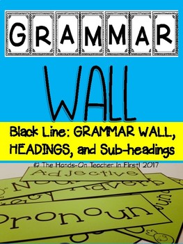 Grammar Wall With Headings and Sub-Headings
