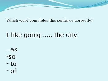 Grammar Warm Up Game