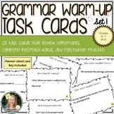 Grammar Warm-Up Task Cards