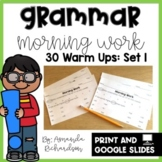 Grammar Practice for First Grade: Set 1