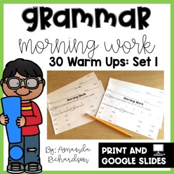 Grammar Practice for First Grade: Set 1