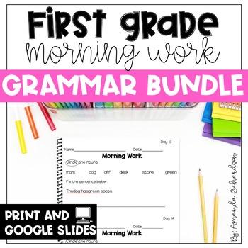 First Grade Morning Work-Grammar