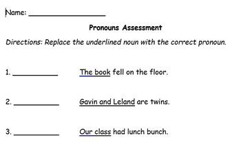 Grammar Warm-Ups/Exit Tickets: Pronouns