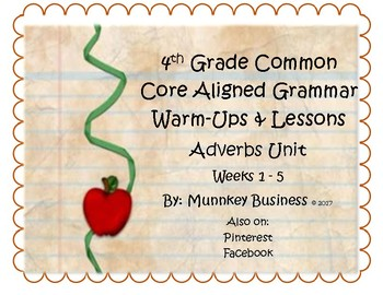 Grammar Warm-Ups & Lessons Nouns Unit Week 1