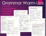 Grammar Warm-Ups Bellringers Than/Then Affect/Effect You'r