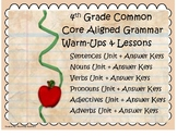 Grammar Warm-Ups & Lessons Year Long Units Bundle
