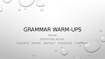 Grammar Warm Ups - Nouns