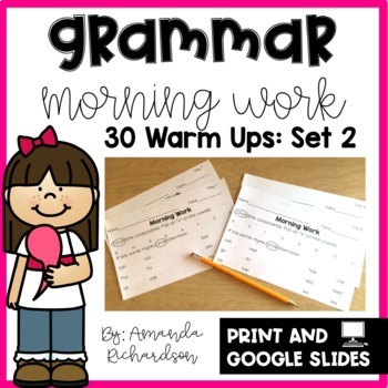 First Grade Morning Work- Grammar