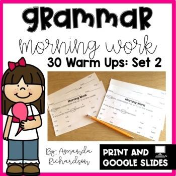 Grammar Practice for First Grade: Set 2