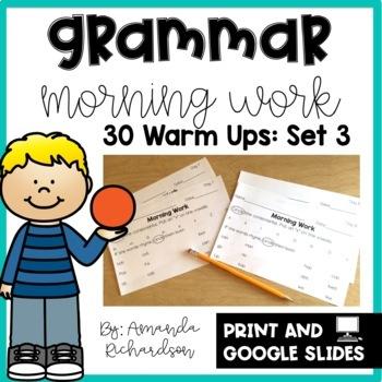 Grammar Practice for First Grade: Set 3