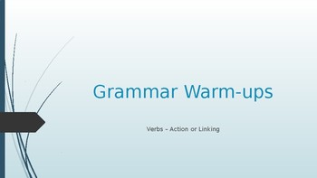 Grammar Warm Ups - Verbs