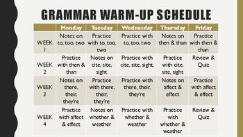 Grammar Warm-up BUNDLE!
