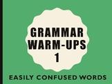 Grammar Warm-up 1