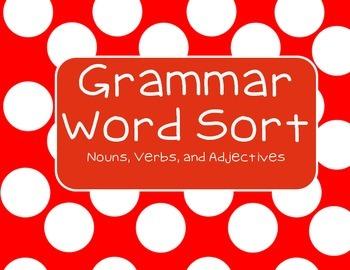 Grammar Word Sort