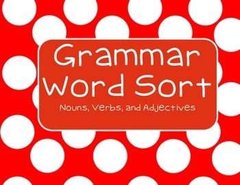Grammar Word Sort