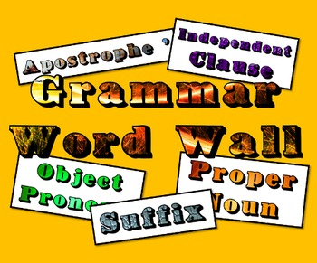 Grammar Word Wall Posters