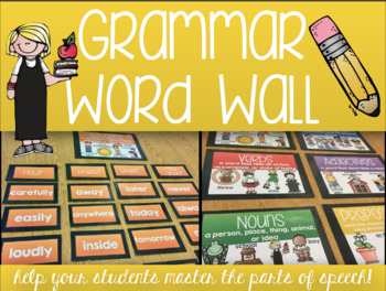 Grammar Word Wall - with All Parts of Speech